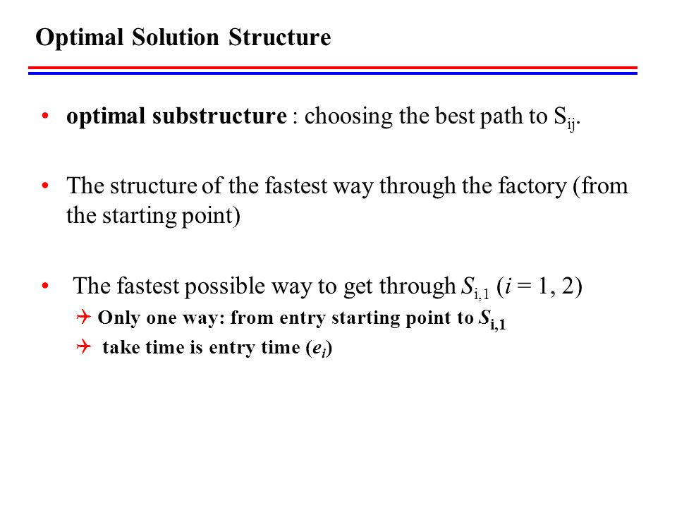 Optimal Solution Structure