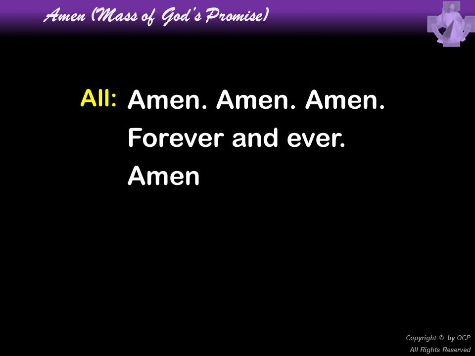 Amen (Mass of God's Promise)