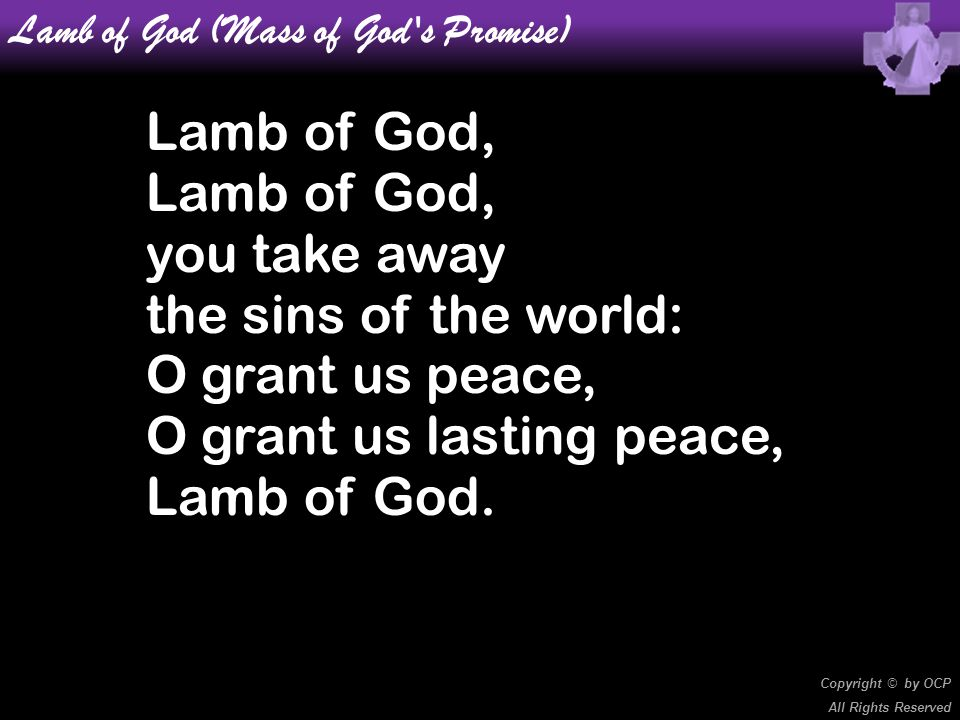 Lamb of God (Mass of God s Promise)
