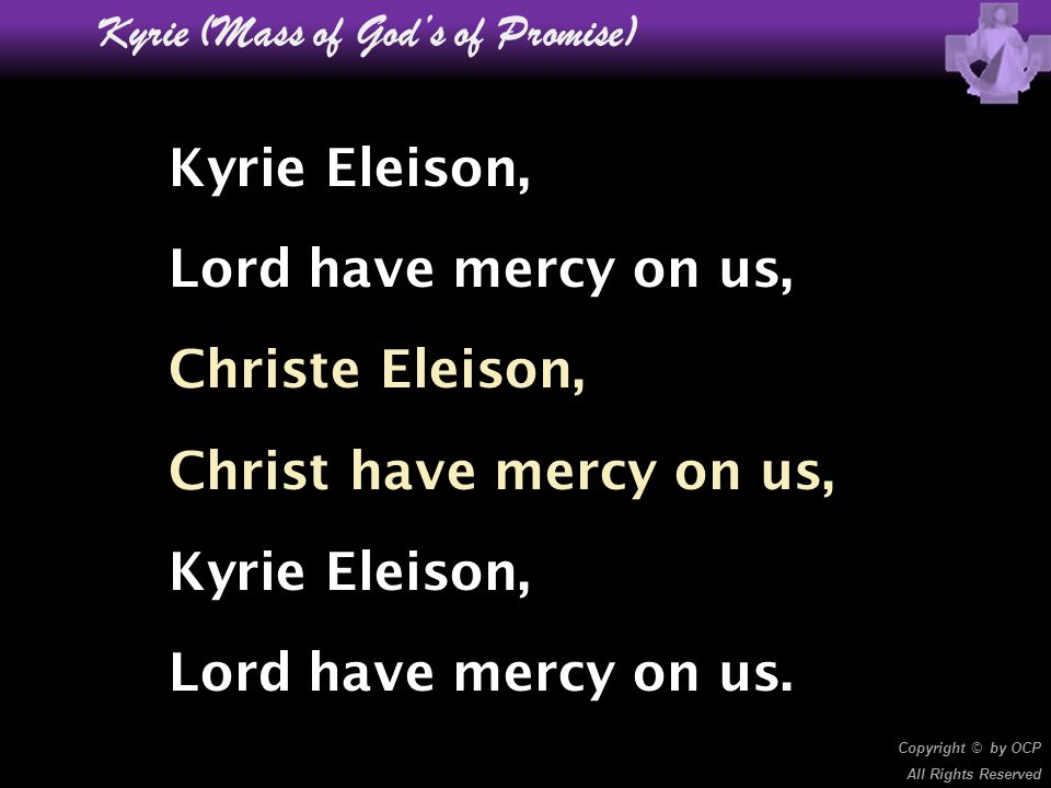 Kyrie (Mass of God's of Promise)