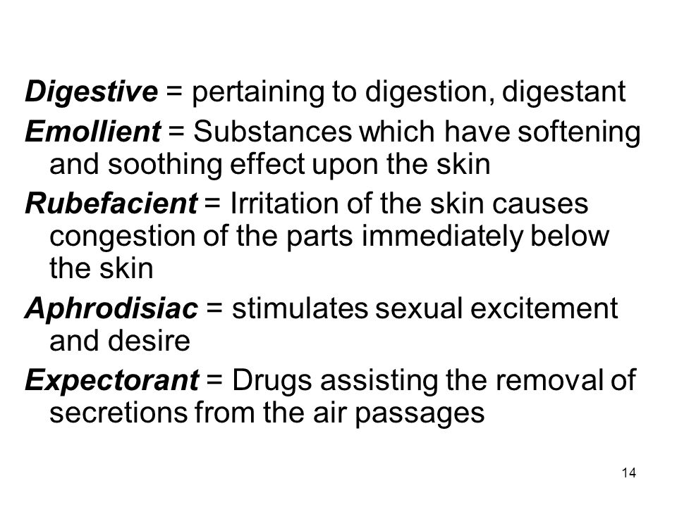 Digestive = pertaining to digestion, digestant