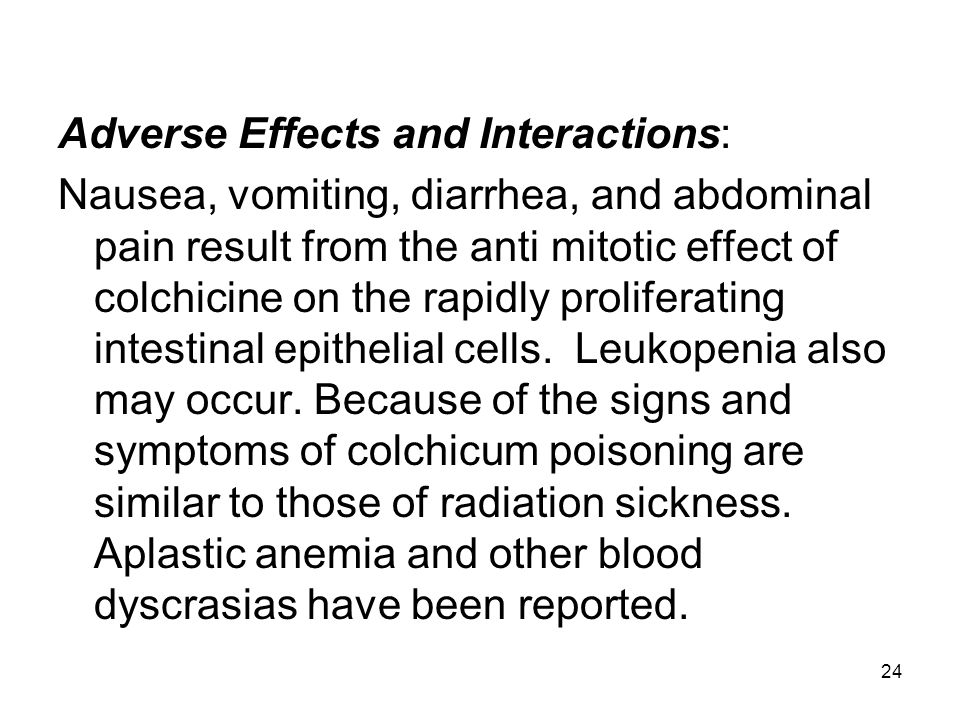 Adverse Effects and Interactions: