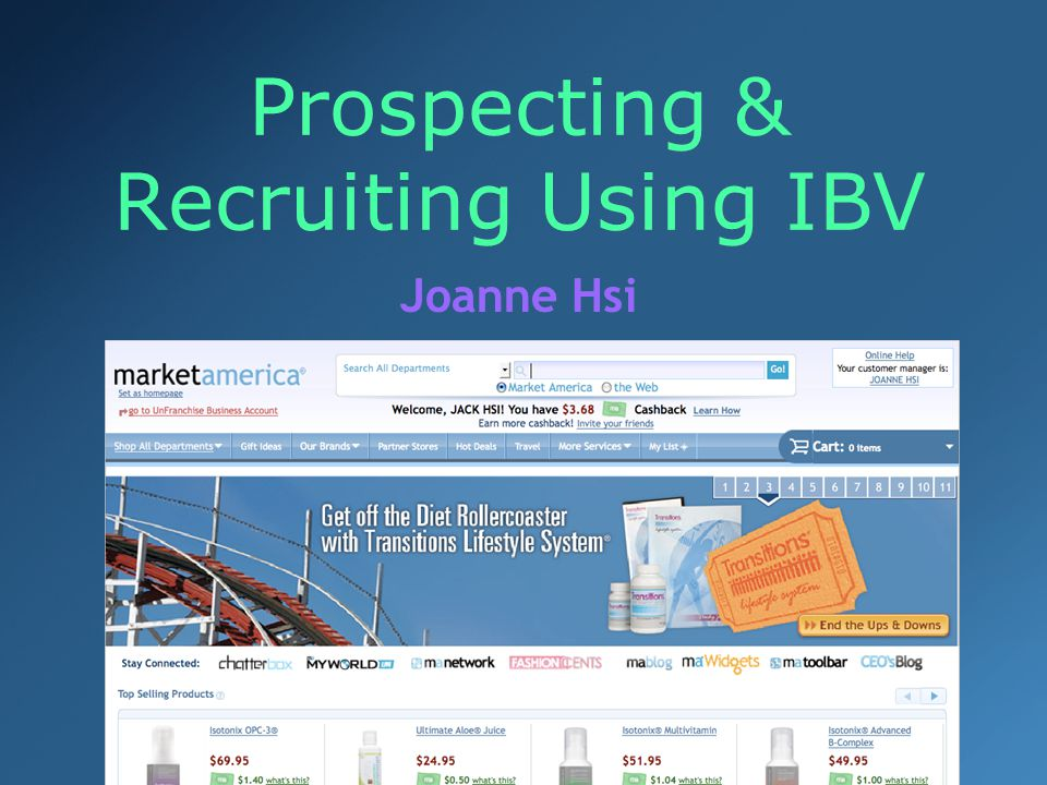 Prospecting & Recruiting Using IBV