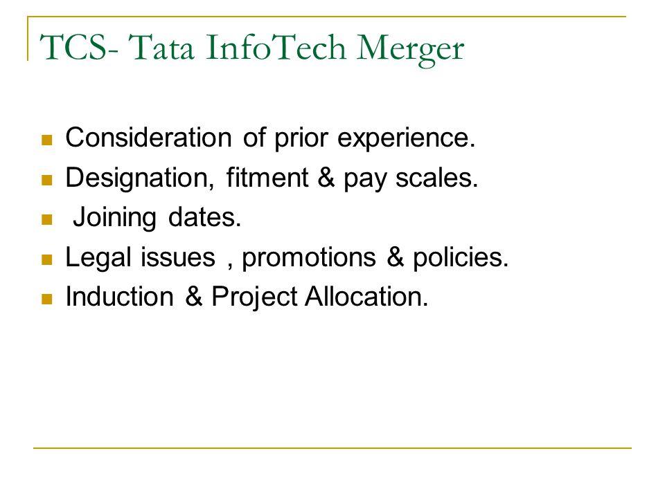 TCS- Tata InfoTech Merger