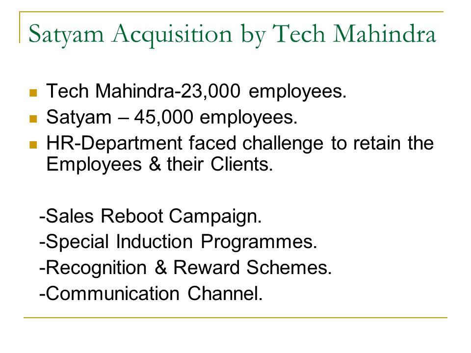 Satyam Acquisition by Tech Mahindra