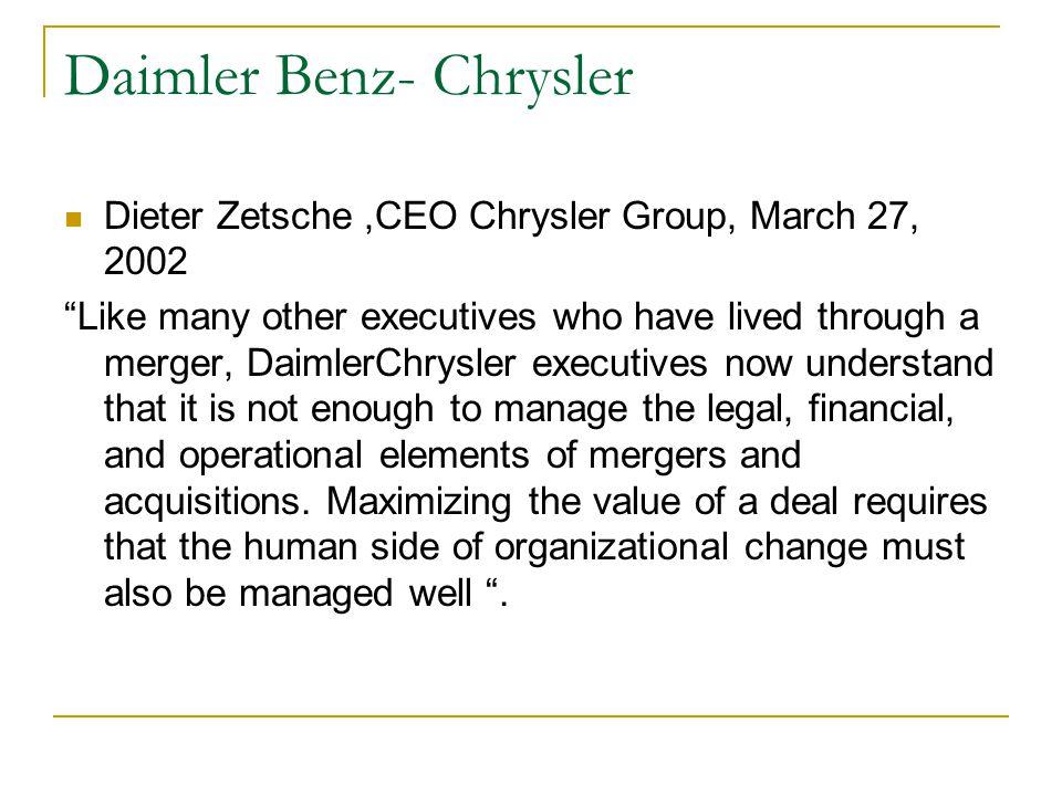 Daimler Benz- Chrysler