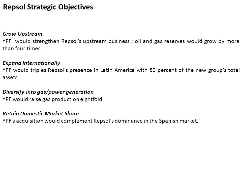 Repsol Strategic Objectives