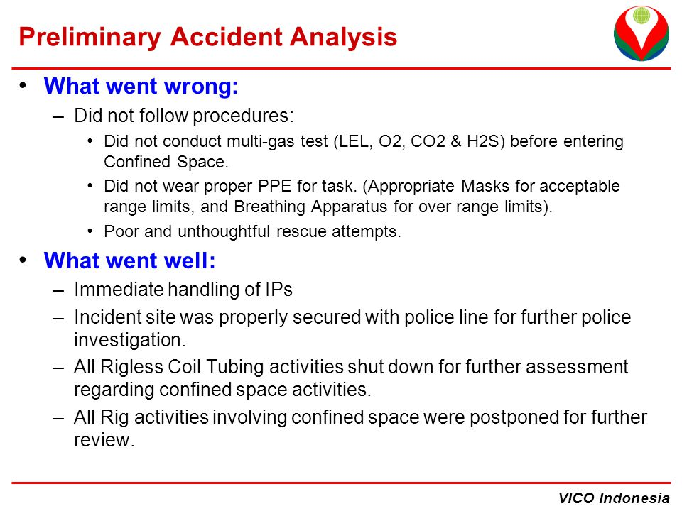 Preliminary Accident Analysis