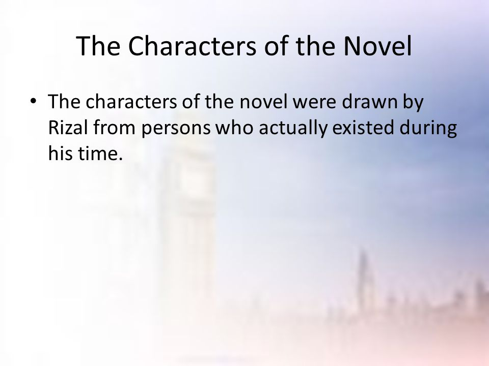 The Characters of the Novel