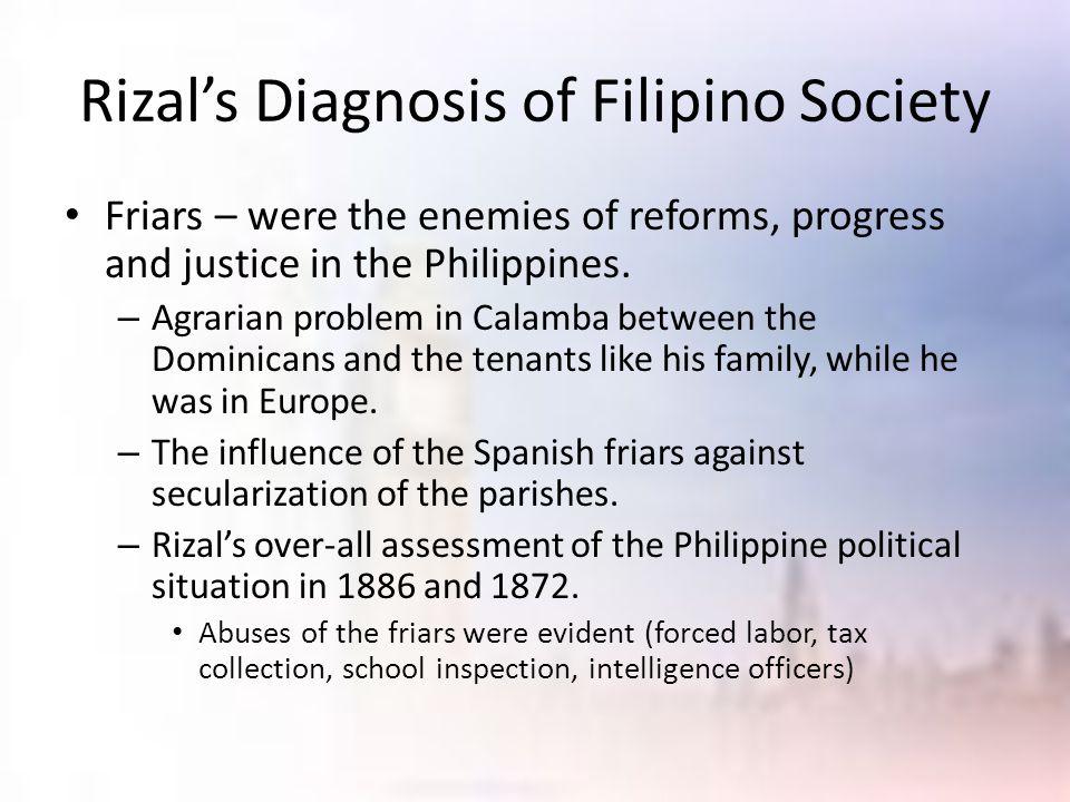 Rizal's Diagnosis of Filipino Society