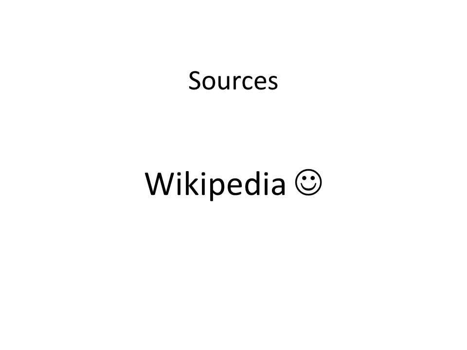 Sources Wikipedia 