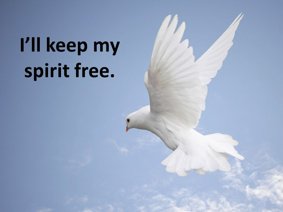 I'll keep my spirit free.