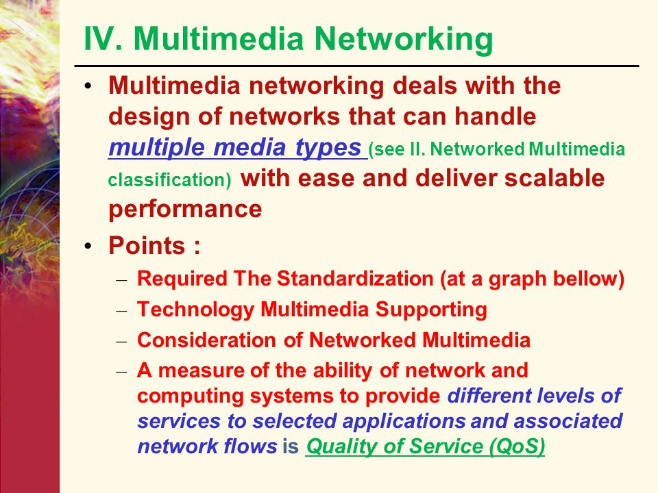 IV. Multimedia Networking