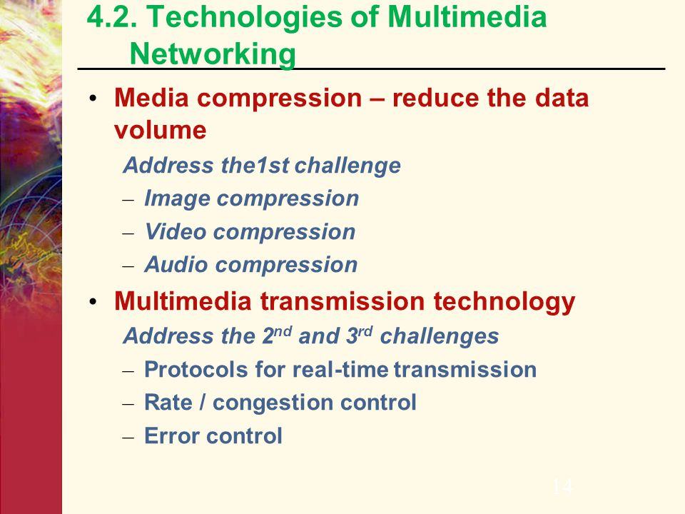 4.2. Technologies of Multimedia Networking