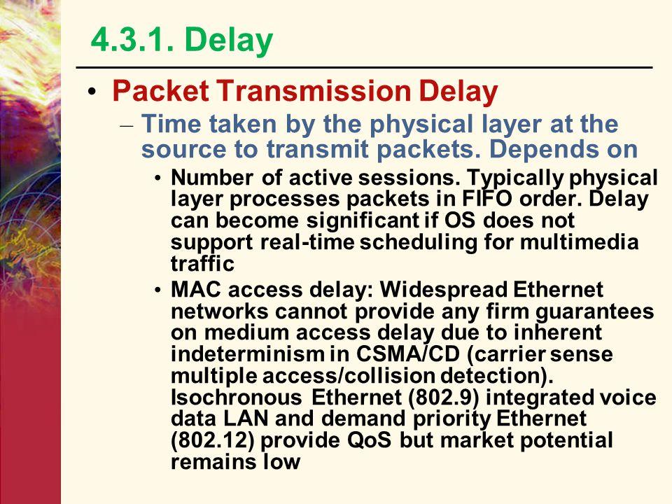 4.3.1. Delay Packet Transmission Delay