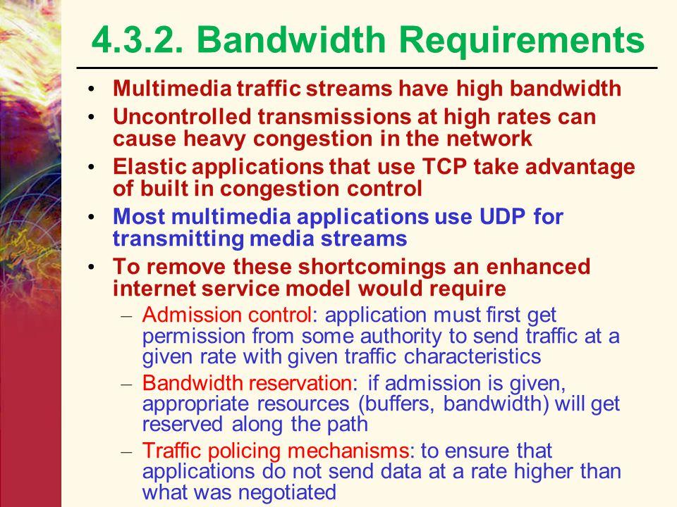 4.3.2. Bandwidth Requirements