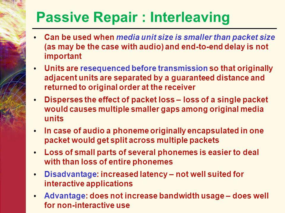 Passive Repair : Interleaving