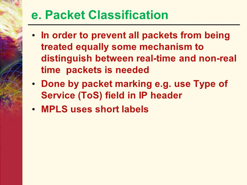 e. Packet Classification