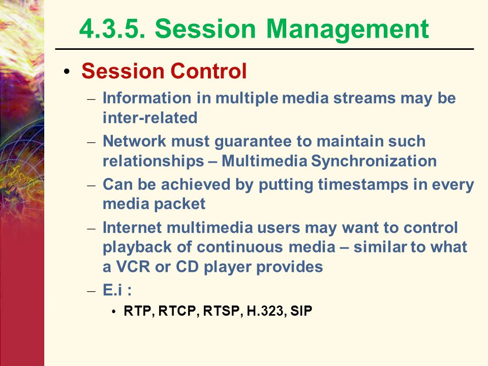 4.3.5. Session Management Session Control