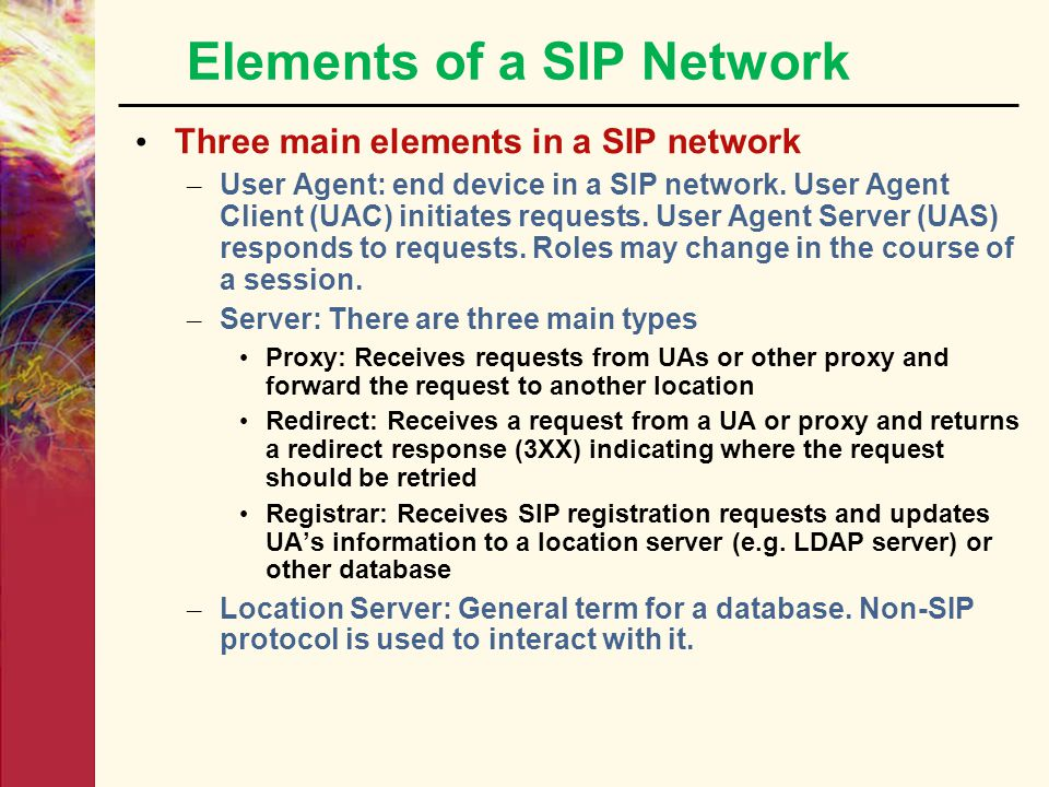 Elements of a SIP Network
