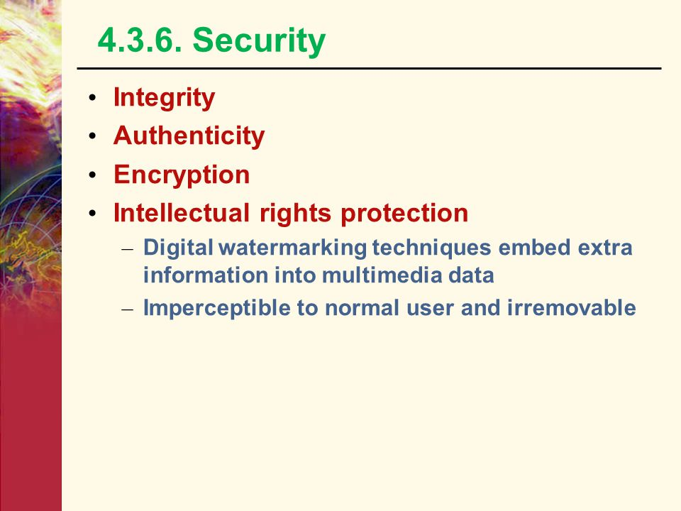 4.3.6. Security Integrity Authenticity Encryption