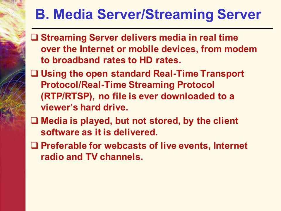 B. Media Server/Streaming Server