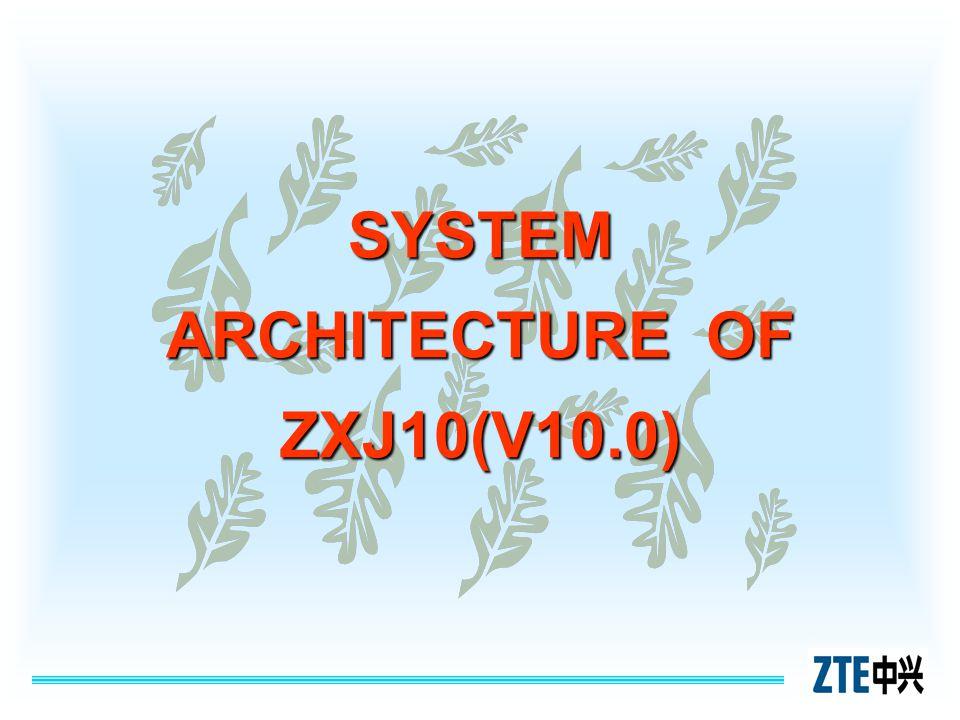 SYSTEM ARCHITECTURE OF ZXJ10(V10.0)