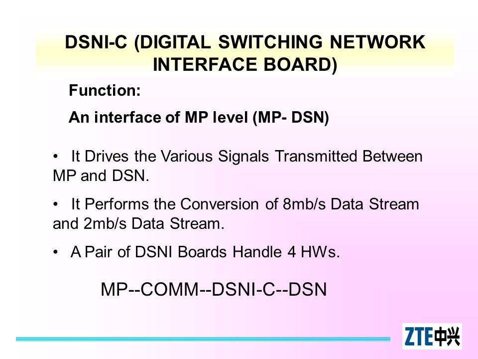 DSNI-C (DIGITAL SWITCHING NETWORK INTERFACE BOARD)