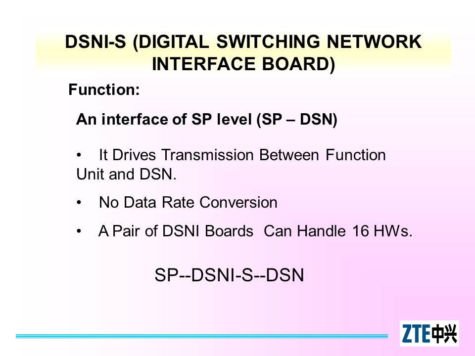 DSNI-S (DIGITAL SWITCHING NETWORK INTERFACE BOARD)