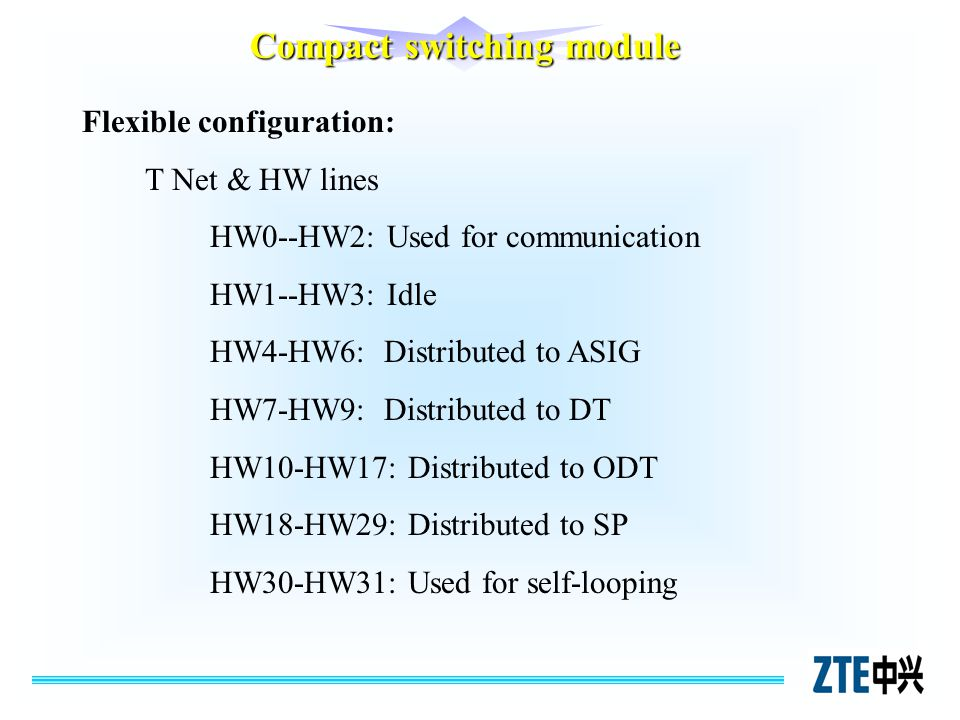 Compact switching module