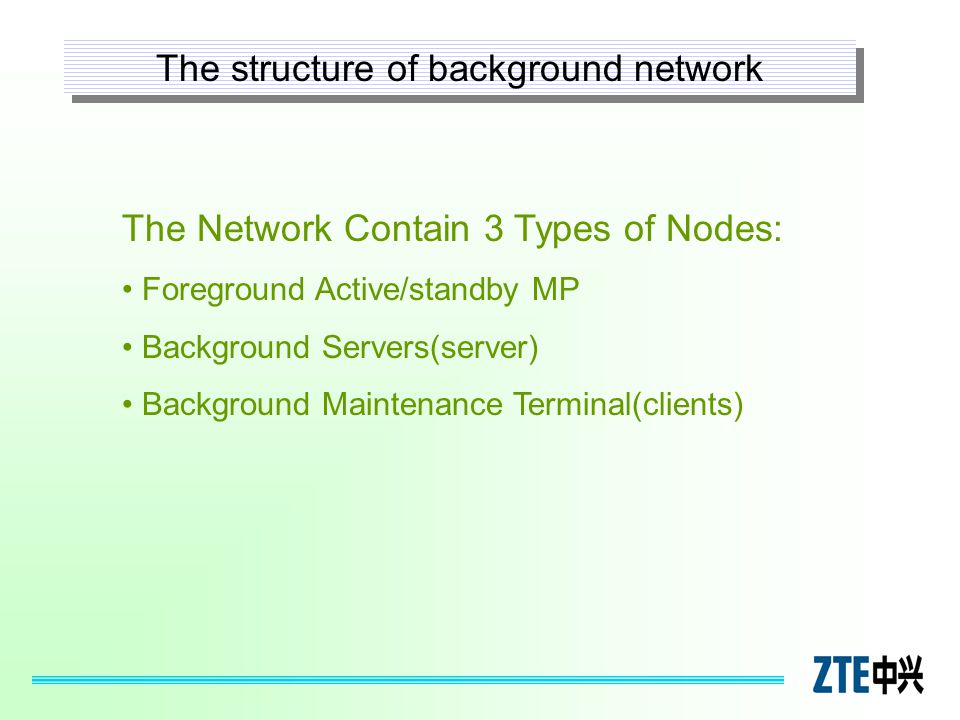 The structure of background network