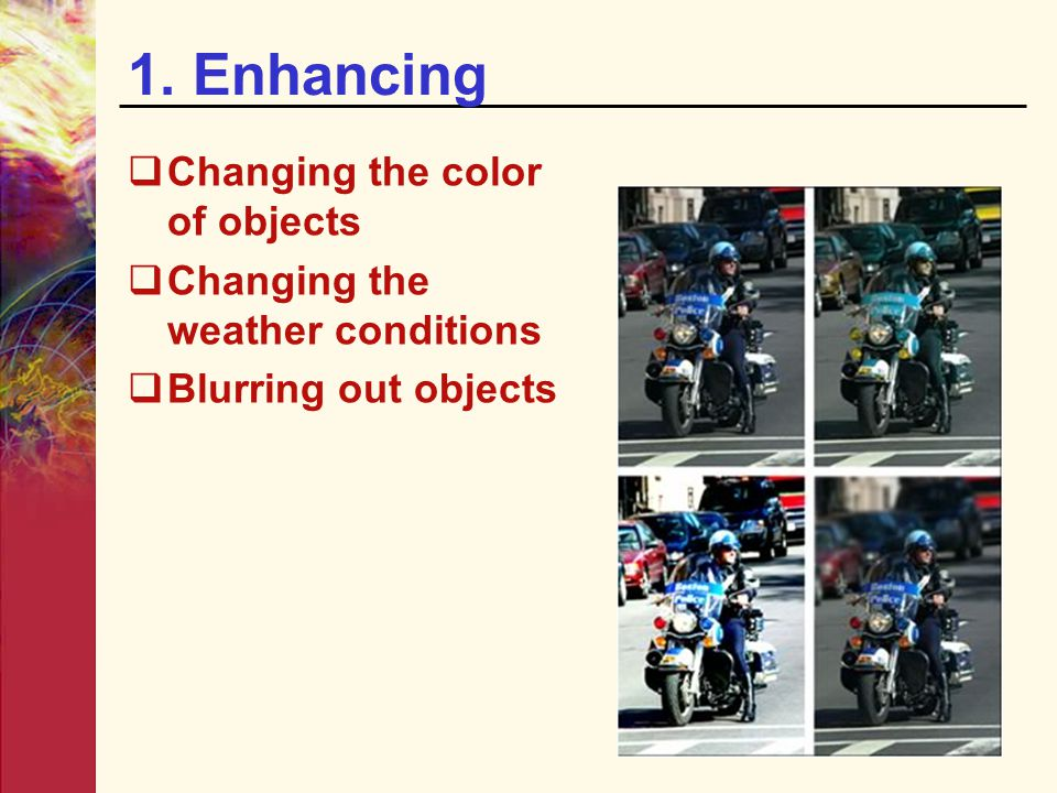 1. Enhancing Changing the color of objects