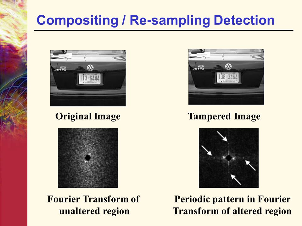 Compositing / Re-sampling Detection