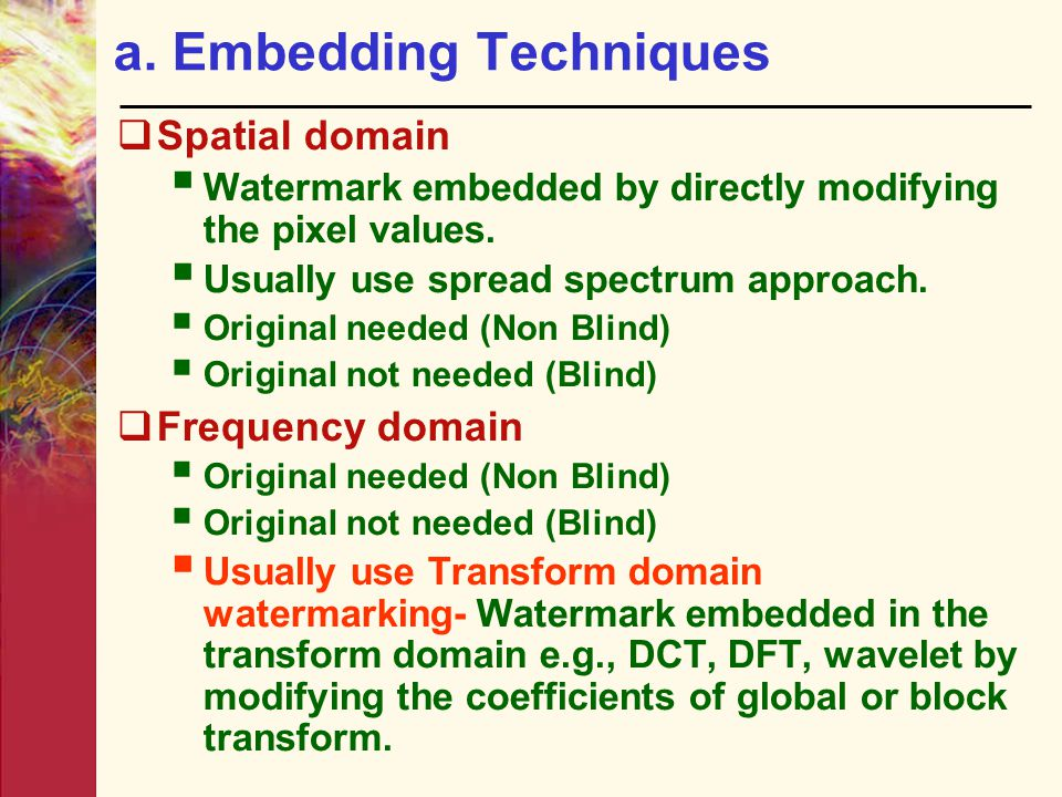 a. Embedding Techniques