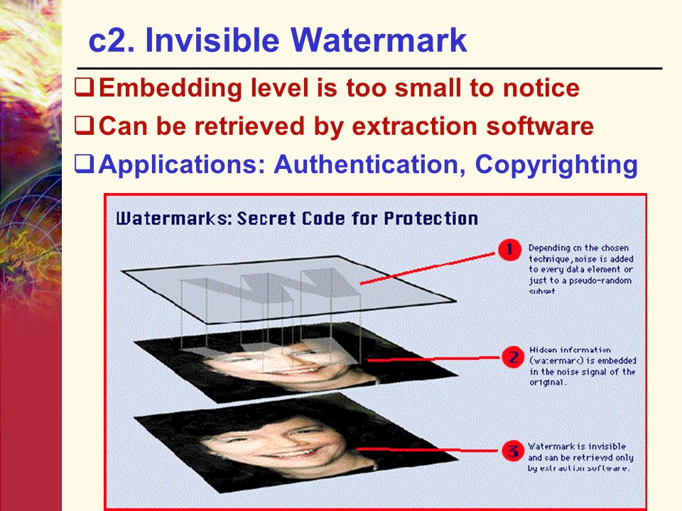 c2. Invisible Watermark Embedding level is too small to notice