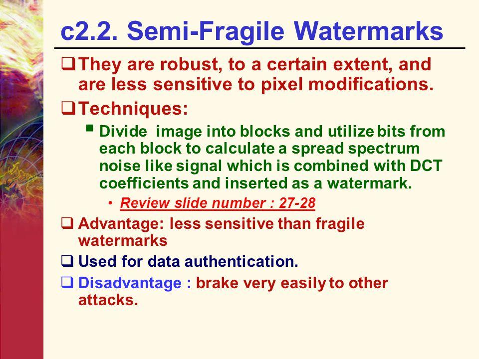 c2.2. Semi-Fragile Watermarks