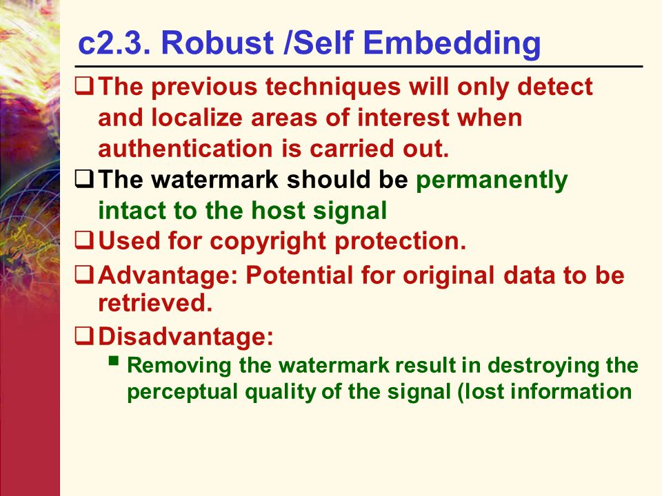 c2.3. Robust /Self Embedding