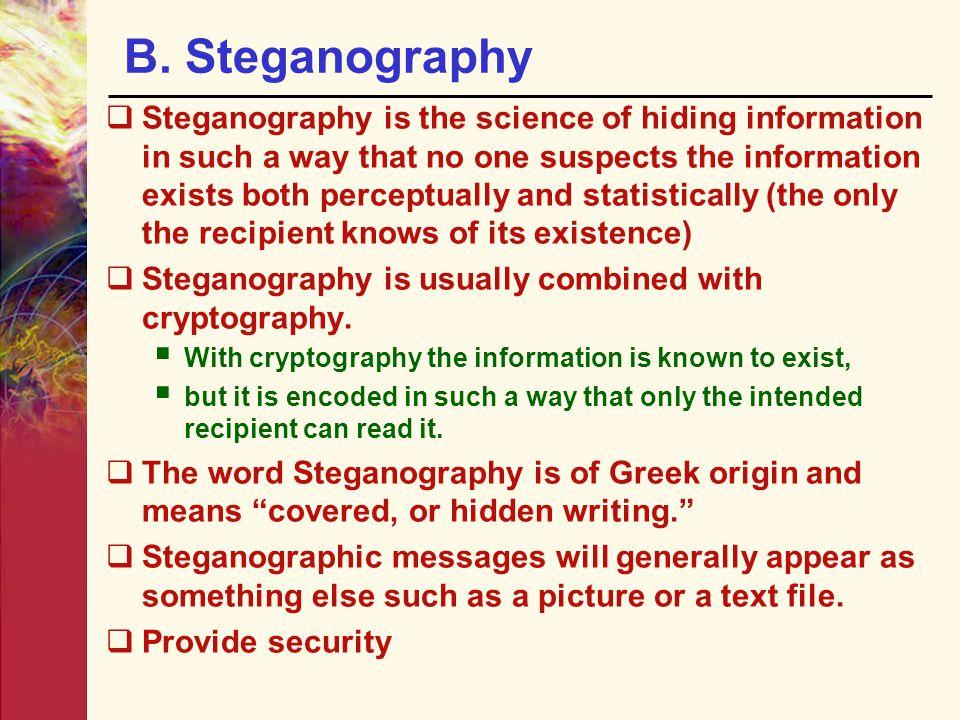 B. Steganography