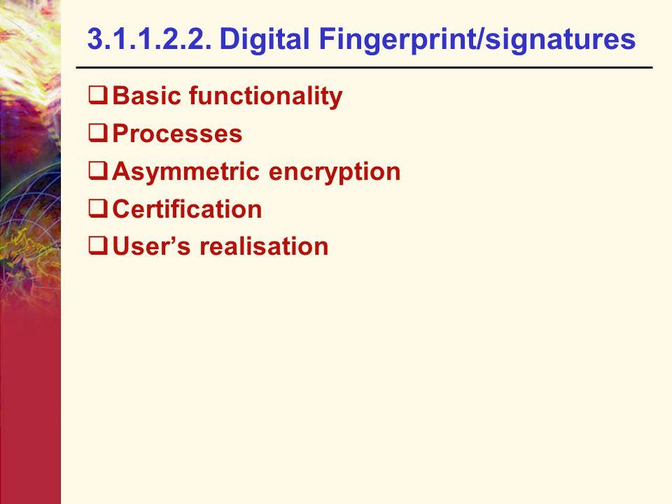 3.1.1.2.2. Digital Fingerprint/signatures