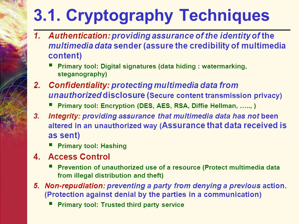 3.1. Cryptography Techniques