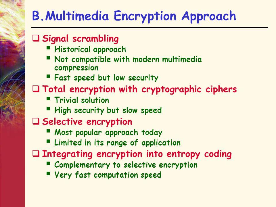 B.Multimedia Encryption Approach