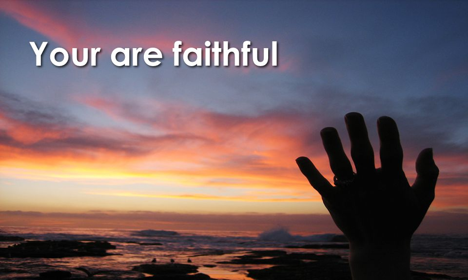 Your are faithful