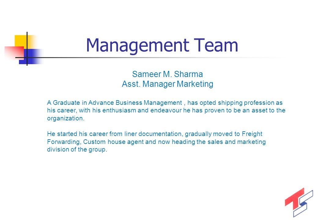 Asst. Manager Marketing