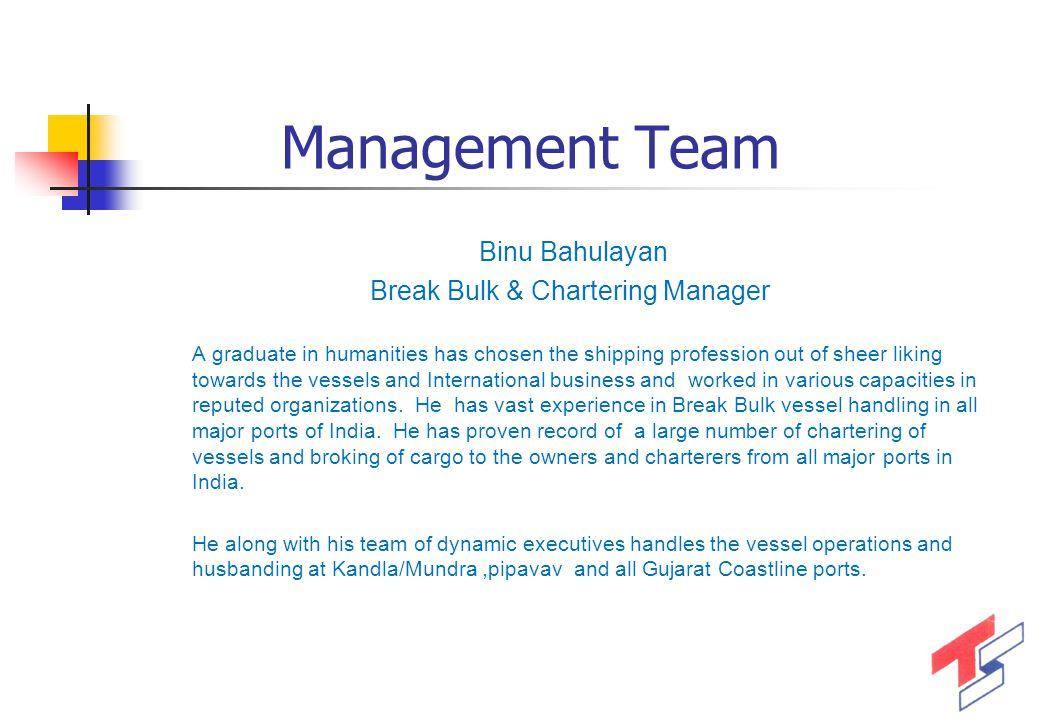 Break Bulk & Chartering Manager