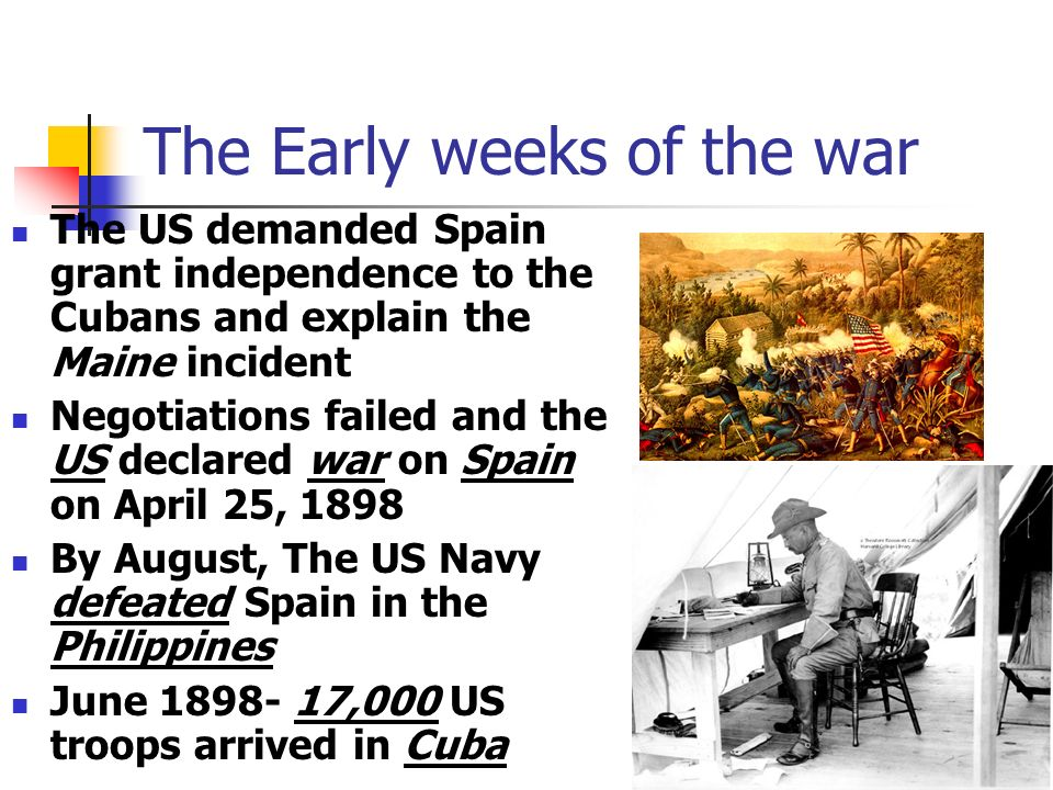 The Early weeks of the war
