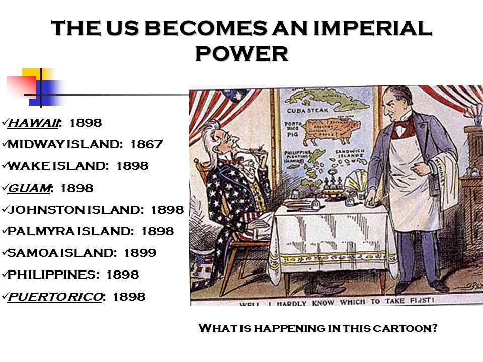 THE US BECOMES AN IMPERIAL POWER