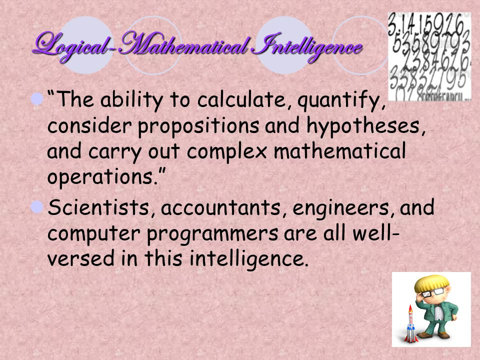 Logical-Mathematical Intelligence