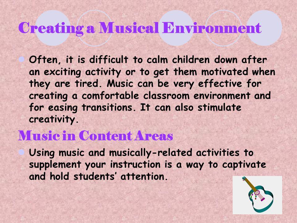 Creating a Musical Environment
