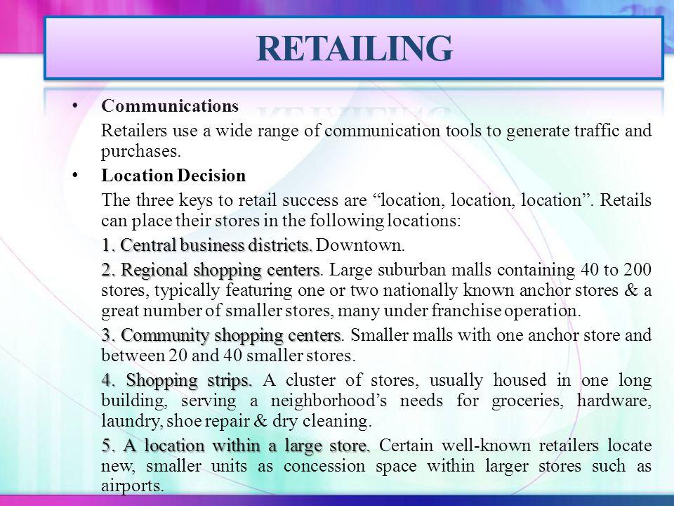 RETAILING Communications