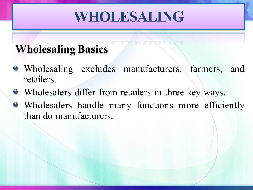 WHOLESALING Wholesaling Basics